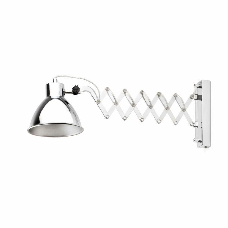 Lámpara de pared tipo acordeón extensible #interiorismo #decoracion #lamparas #iluminacion #lucesdecasa #apliques