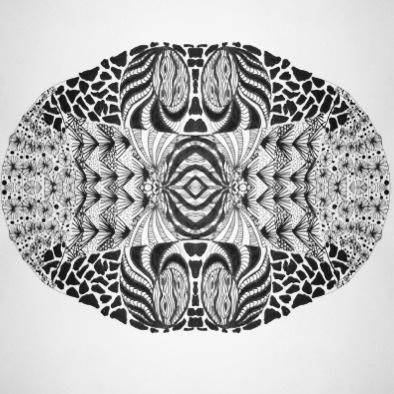 Zentangles inspireret tegning