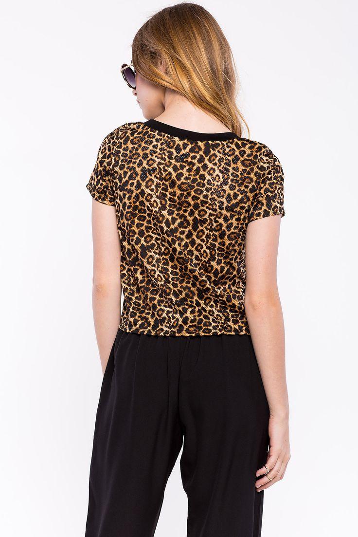 Леопардовый топ Размеры: M Цвет: коричневый с принтом Цена: 883 руб.     #одежда #женщинам #топы #коопт
