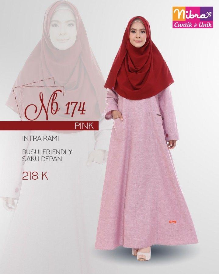 Baju Couple Keluarga Gamis Dewasa Nibras Nb174 Pink Baju Kaos Baju Muslim Pakaian