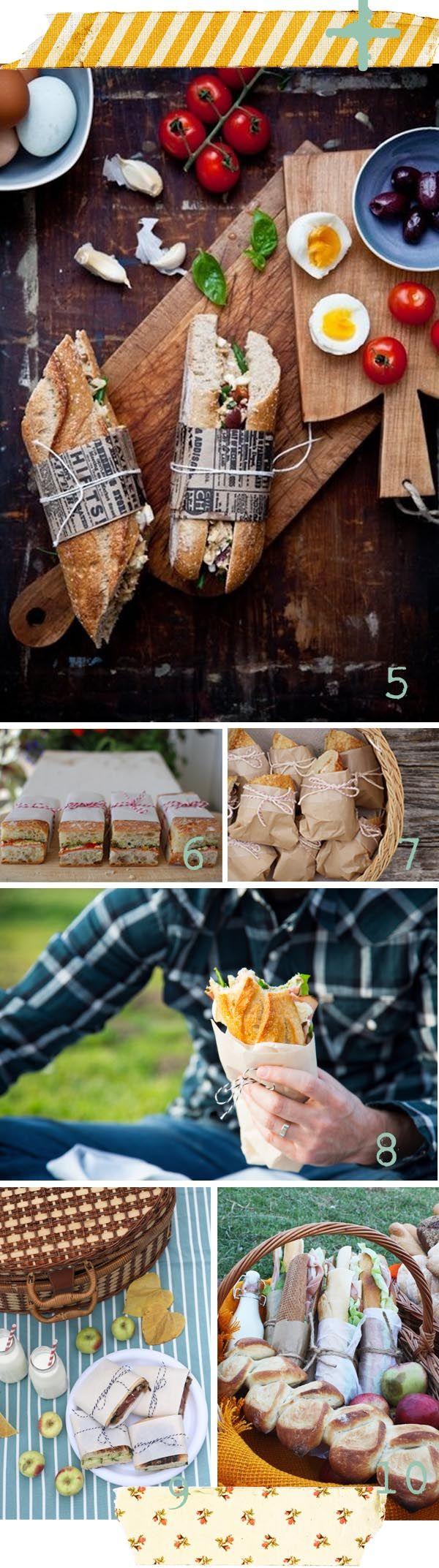 Bocadillos originales para picnic