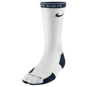 Nike Elite 2 Layer Basketball Crew Sock - Men's - Basketball - Accessories - White/Midnight Navy