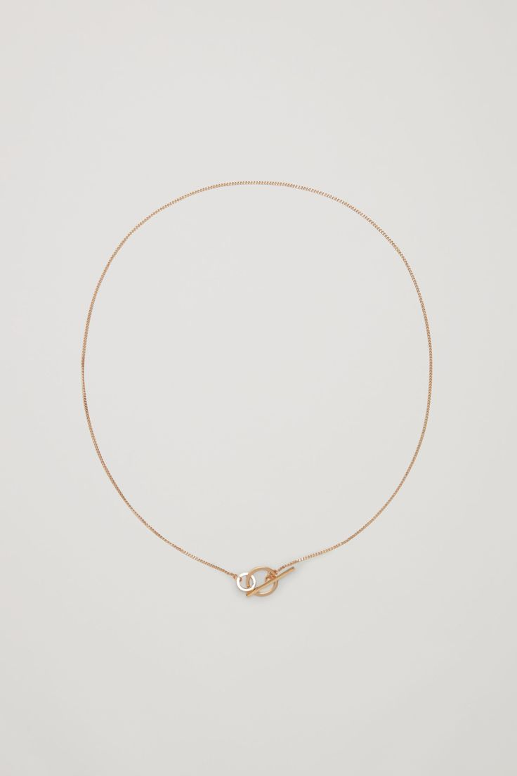 COS image 1 of Interlinked short necklace in Gold