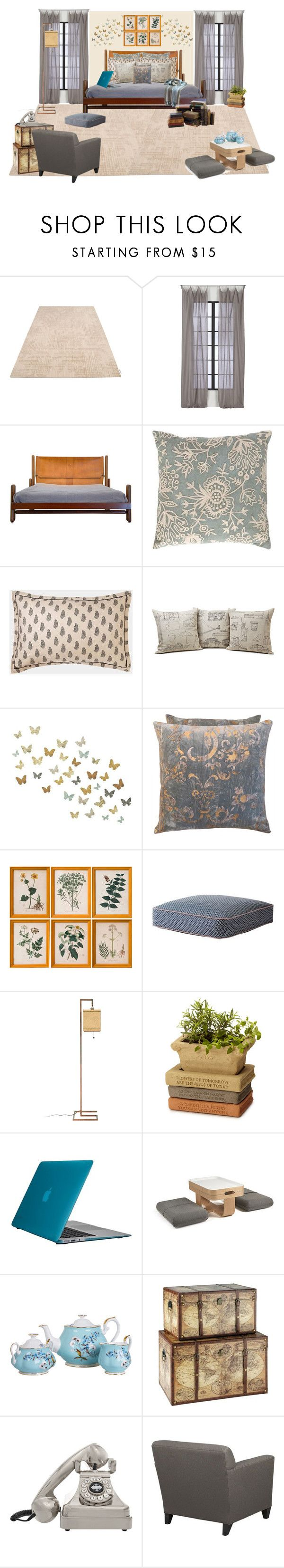 """""""Style This 1st Dibs Furniture"""" by anmarga ❤ liked on Polyvore featuring interior, interiors, interior design, home, home decor, interior decorating, Calvin Klein, CB2, Pine Cone Hill and Toast"""
