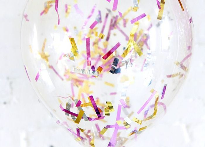 紙ふぶき入りの風船が可愛い♩身近な素材で『コンフェッティバルーン』をDIY*のトップ画像