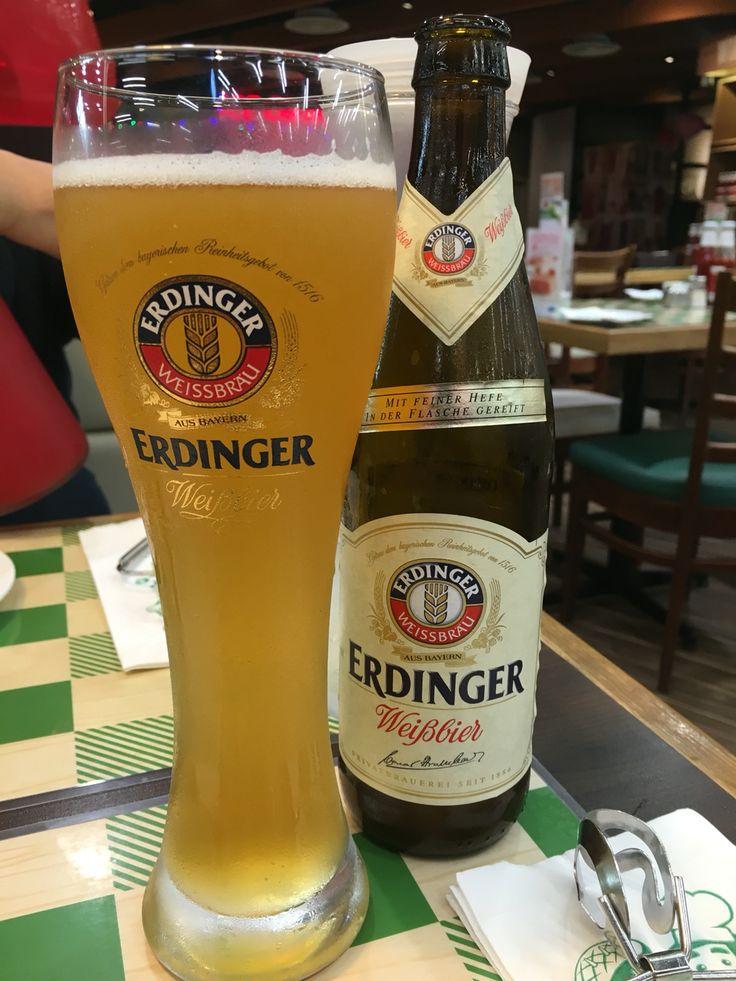 Cheers! Erdinger Beer!