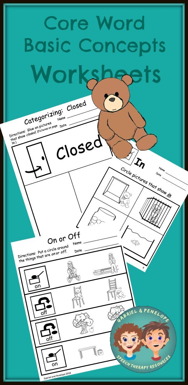Core Word Basic Concepts Worksheets Basic Concepts Core Words Language Therapy Activities [ 1296 x 636 Pixel ]