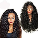 150% Density Kinky Curly Natural Black Color Hair Wig High Quality Synthetic Lace Front Wigs For Black Women 2016 - $43.19