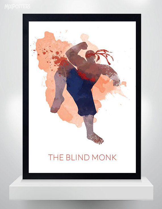 Lee Sin poster Watercolor Print League of Legends by MixPosters