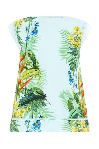 Oasis, TROPICAL PLACEMENT TEE Multi Blue