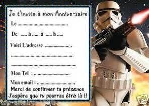 dtails sur 5 cartes invitation anniversaire star wars 09 dautres en - Carte Anniversaire Star Wars Imprimer