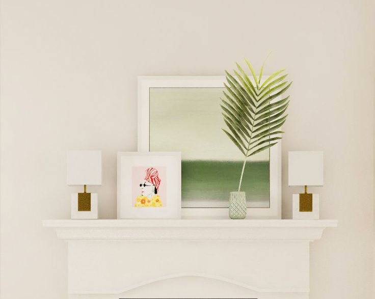 Eclectic and Tropical Fireplace Mantel Styling Ideas