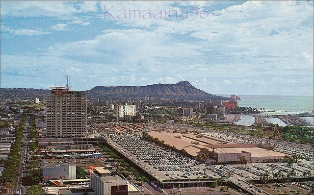 Ala Moana Center from Piikoi c1961
