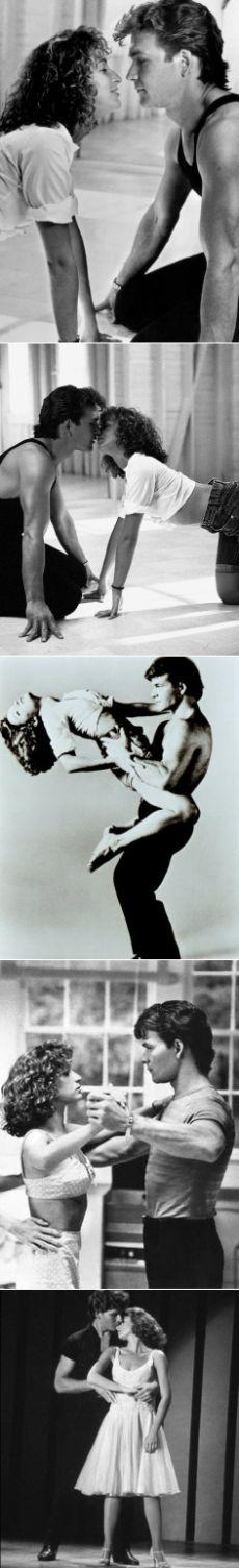 """Патрик Суэйзи и Дженнифер Грей на съемках фильма """"Грязные танцы"""". 1987 год."""