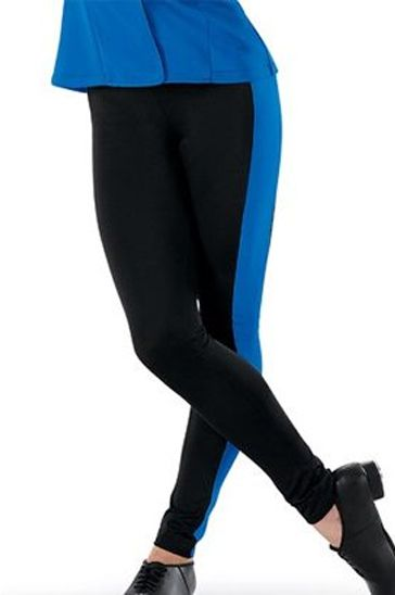 Private Label Manufacturer Black and Blue Top and Tights Set