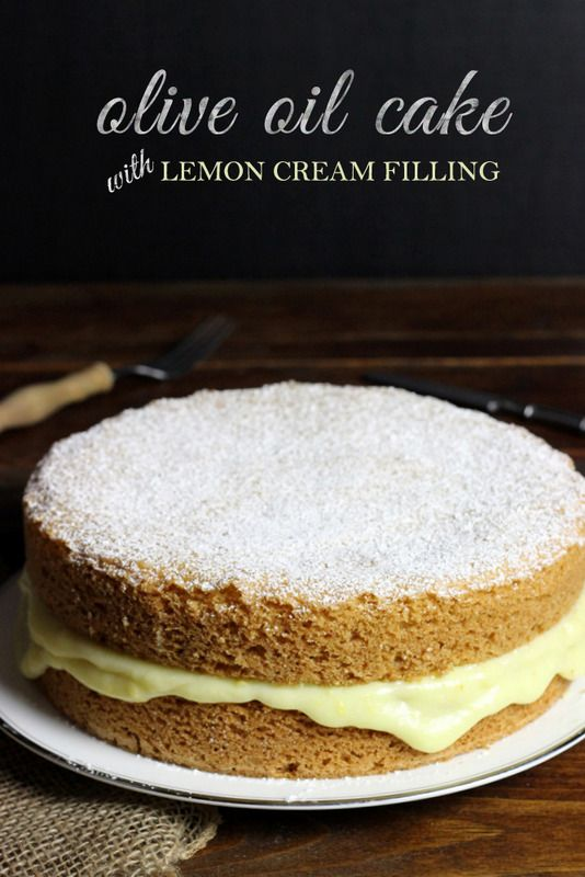 Oil Cake with Lemon Cream Filling | Recipe | Olive Oil Cake, Oil Cake ...