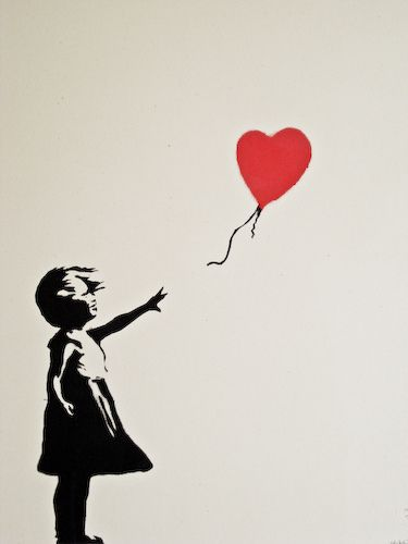 Banksy, Hope and Red balloon on Pinterest