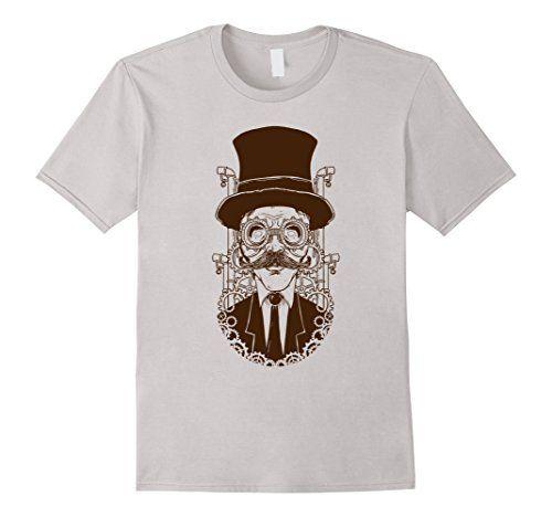 Steampunk - Mens Steampunk T-Shirt XL Silver