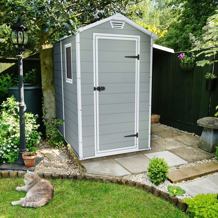 Keter 6X4 Apex Double Resin Wall Plastic Shed | Departments | DIY at B&Q