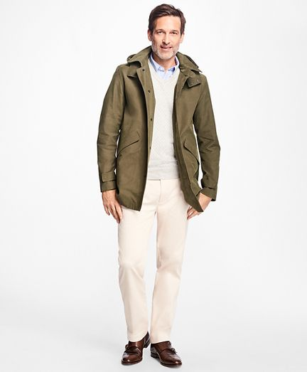 Waterproof Walking Coat with Removable Hood