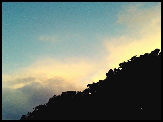 Evening's falling