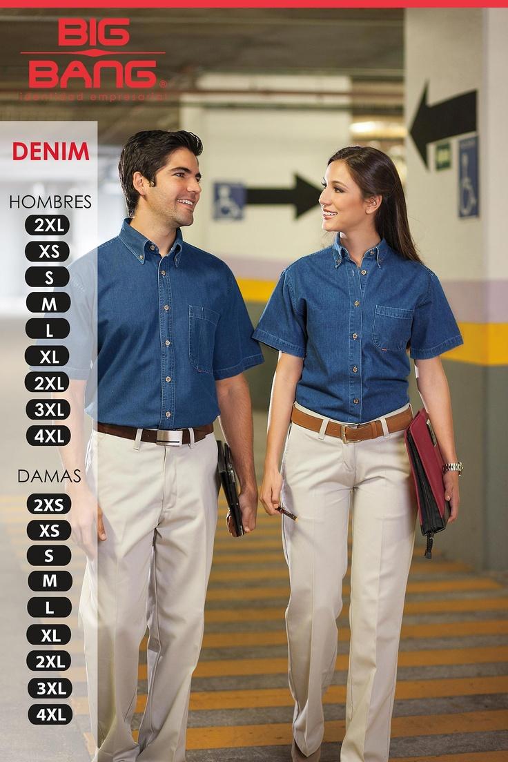 La camisa DENIM es ideal para trabajos operativos y de supervisión. #mezclilla, #uniformes de mezclilla, #uniformes corporativos, #uniformes de calidad.