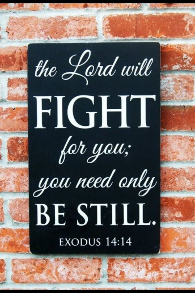 The Lord Will Fight For You!