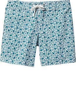"Mens Patterned Board Shorts (7"")"
