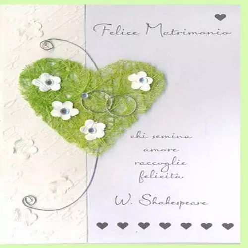 felice matrimonio biglietto frase william shakespeare