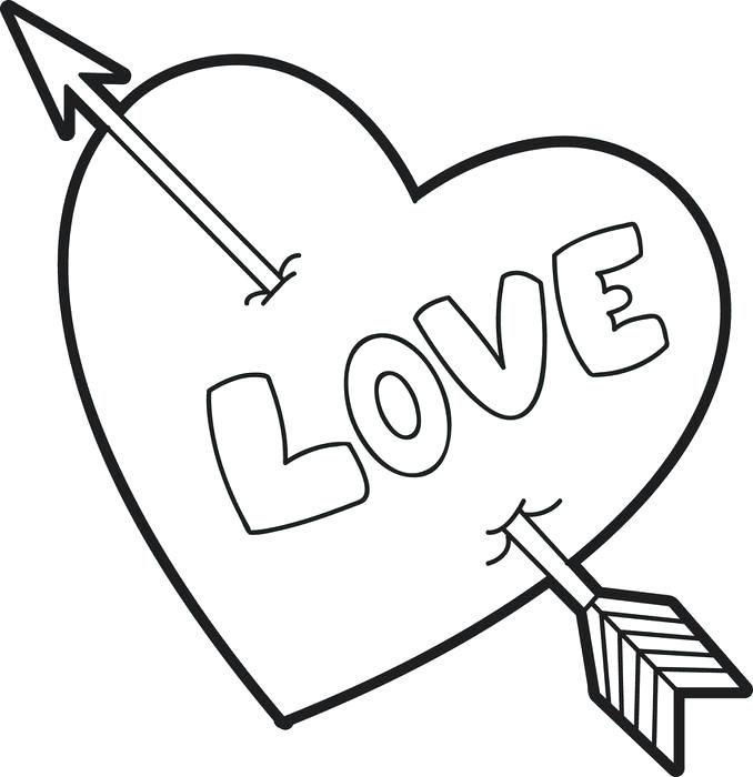 قلب للتلوين صور قلوب حب للتلوين جاهزة للطباعة Heart Coloring