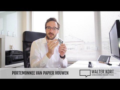 Portemonnee van A4 papier vouwen - Walter Kort