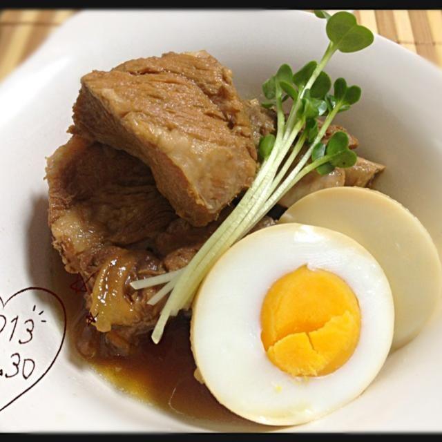 圧力鍋で時短の角煮。 骨までホロホロに煮れました☆ - 54件のもぐもぐ - 豚のスペアリブで角煮☆ by sakuchin