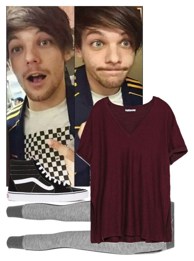 """""""Meeting Fans with Louis (Louis Girlfriend)"""" by luckycharms1d ❤ liked on Polyvore featuring rag & bone, Zara and Vans"""