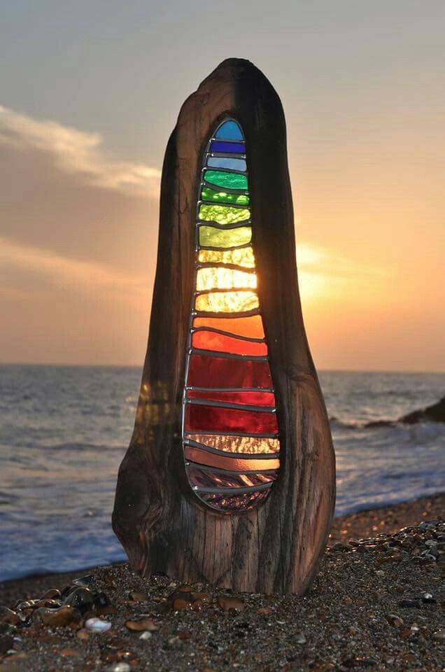 Stain glass sculptures by Louise V Durham!