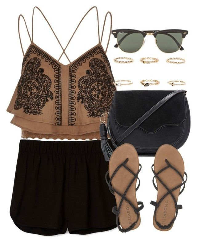 """""""Style  #10728"""" by vany-alvarado ❤ liked on Polyvore featuring River Island, Rebecca Minkoff, Billabong and Ray-Ban"""