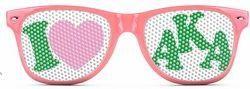 Alpha Kappa Alpha Wayfarer Style Lens Sunglasses SALE $12.95. - Greek Clothing and Merchandise - Greek Gear®