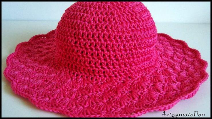 Como Fazer : Chapéu de Praia c/ Crochê Endurecido - Passo a Passo Fácil