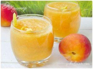 Аква фреска: напиток из дыни и персика