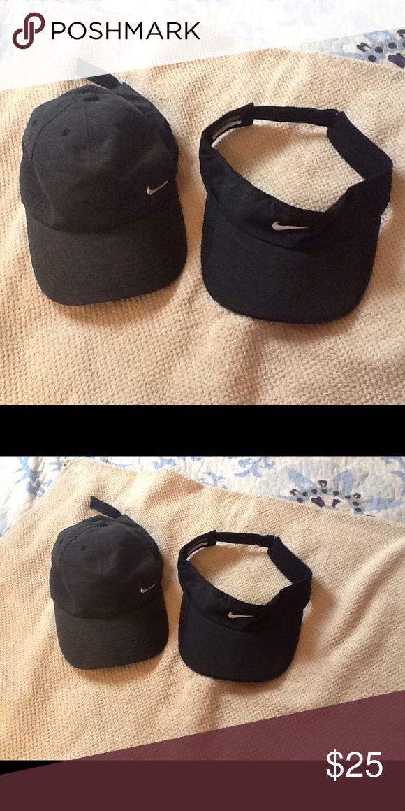 Nike baseball cap & Nike visor both in black Nike baseball cap & Nike visor both in black Nike Accessories Hats