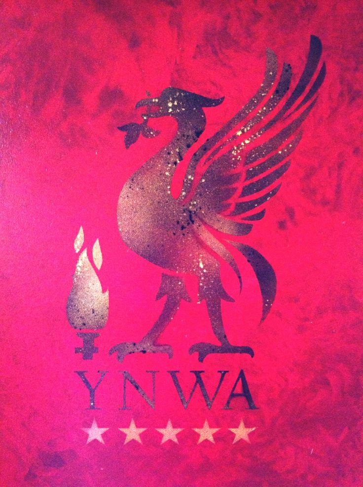 This is a bespoke stencil of liverpool insignia
