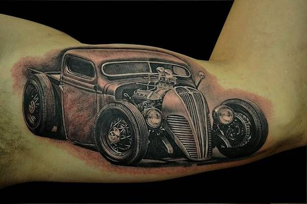 Hot Rod Car and Truck Tattoo 63