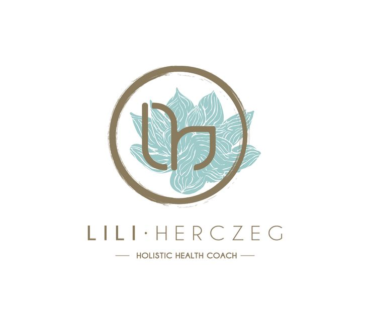 Lili Hercezg - holistic health coach logo by www.papercatdesign.hu