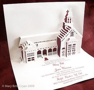 3D Wedding Invite - I can't imagine spending this much time on each wedding invite, but i love the idea!