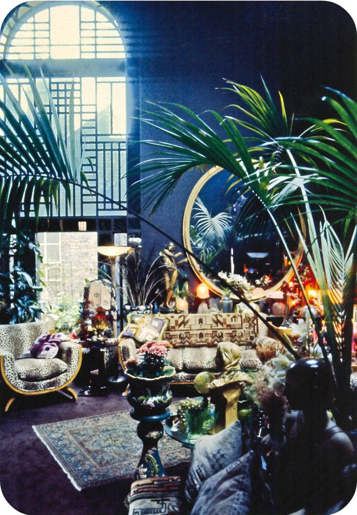 Barbara Hulanicki's living room in Holland Park. Sunday Times 1973