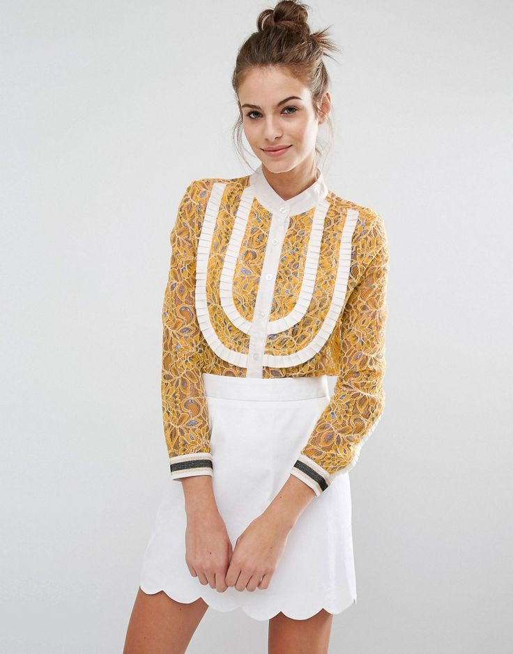 Image 1 ofSister Jane Lace Shirt With Metallic Thread