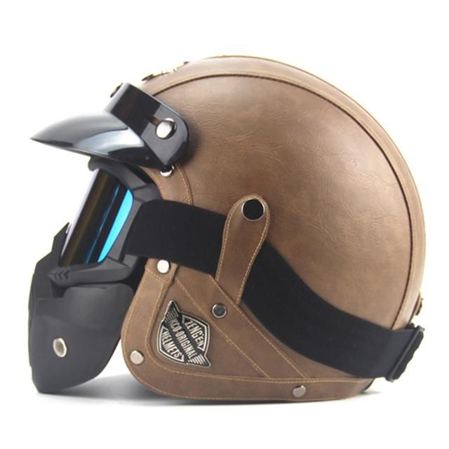 New Retro German Style Motorcycle Helmet Vintage Helmet Motorcycle Helmets Vintage Open Face Helmets