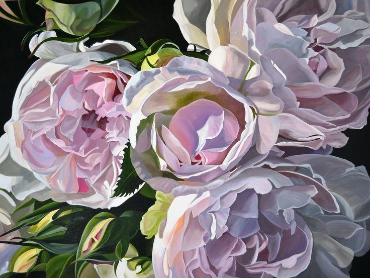 'Spray Roses' 120 x 90 cm Jenny Fusca Paintings