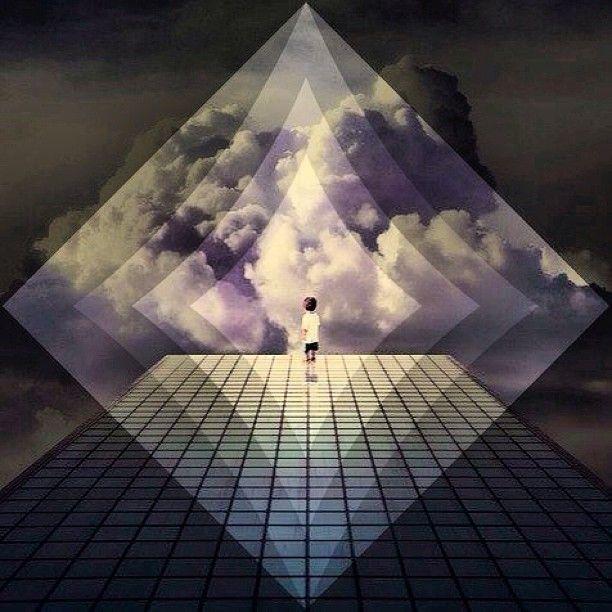 "@dabigmacadamian's photo: ""How I feel everyday! On the #clouds! #highaf #trippy #glitchmobinspired #glitchmob #macadamian #edit #high #shapes #diamond @The Glitch Mob"""