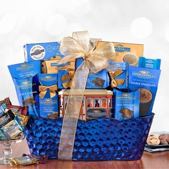 Elegant Ghirardelli Chocolate Basket. See more at www.pro-gift-baskets.com!