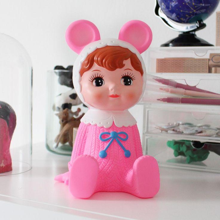 Pink Woodland dukke sparebøsse - Tinga Tango Designbutik